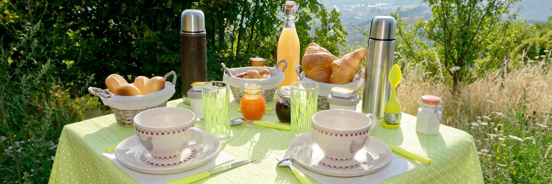 petit déjeuner Nuits D'y Cîmes bulle transparent Auvergne, Var Rhône Alpes